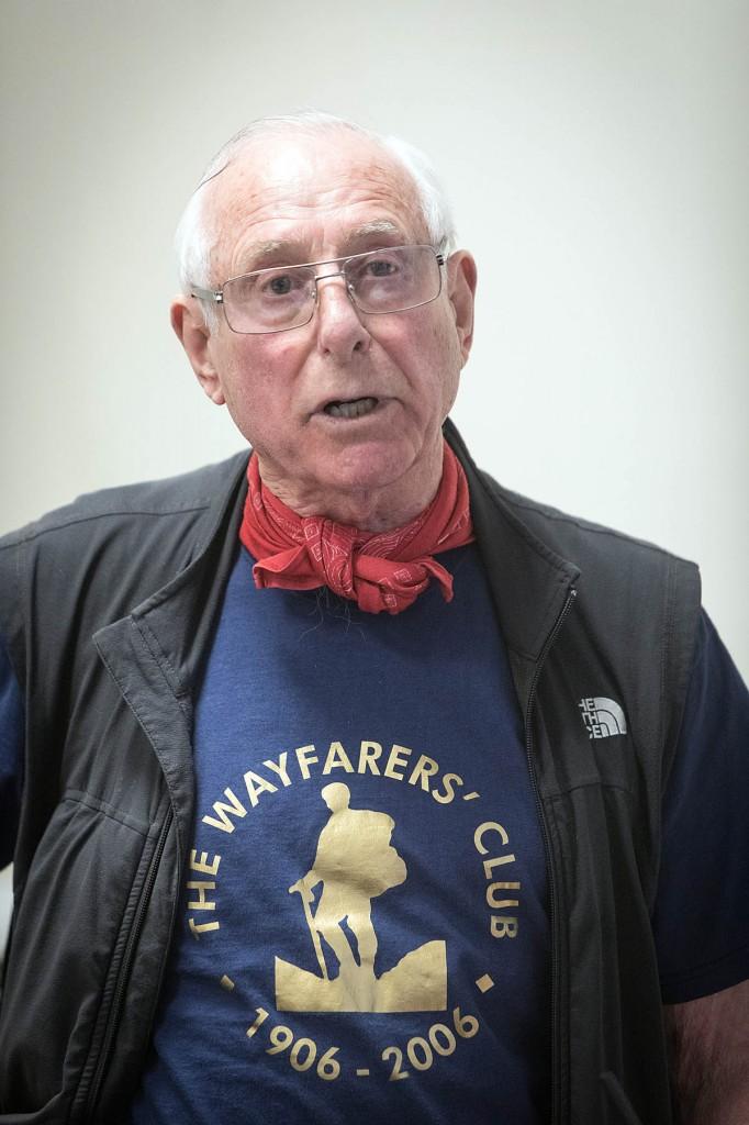 Bob Pettigrew addresses the meeting. Photo: Bob Smith/grough