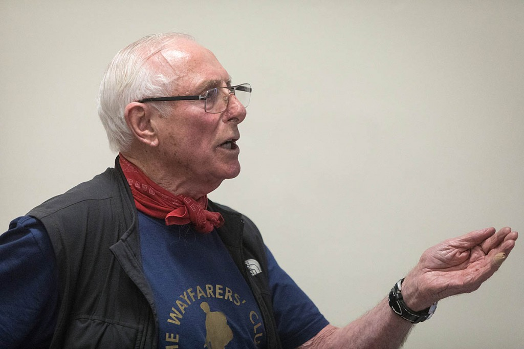 Bob Pettigrew, one of the 'troublemakers' speaks at the meeting. Photo: Bob Smith/grough