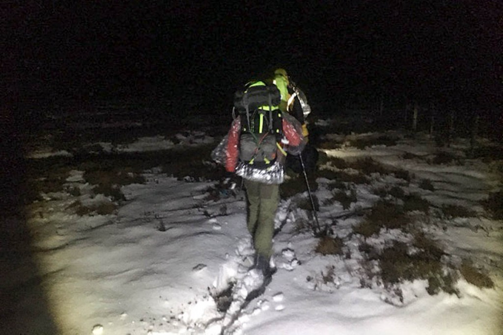 The two walkers were led to safety from the Border Ridge. Photo: BSARU