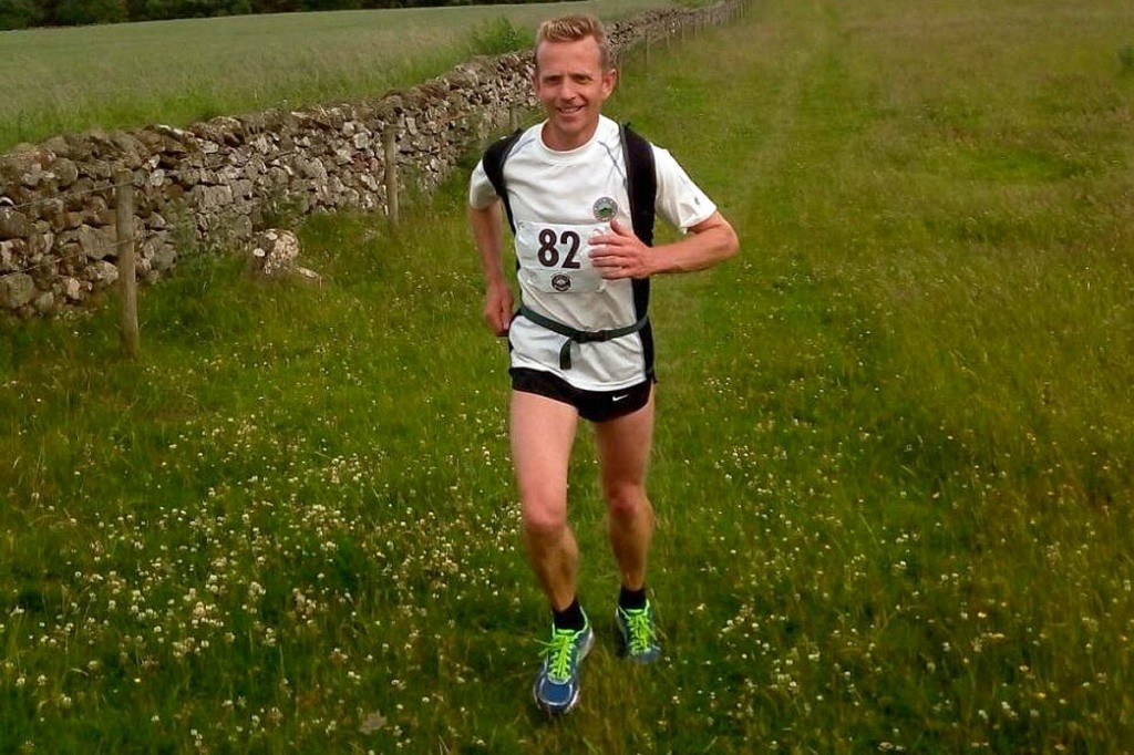 Damon Rodwell takes part in the St Cuthbert's Way race