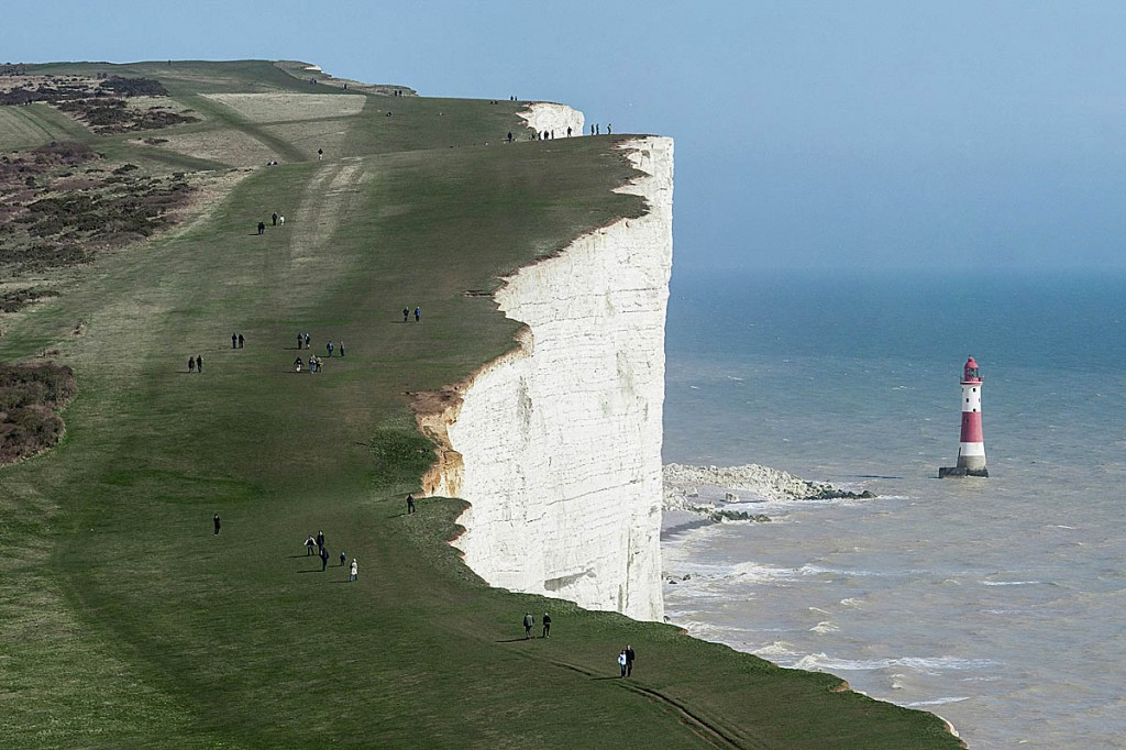 Cracks have appeared at Beachy Head in East Sussex. Photo: David Iliff CC-BY-SA-3.0