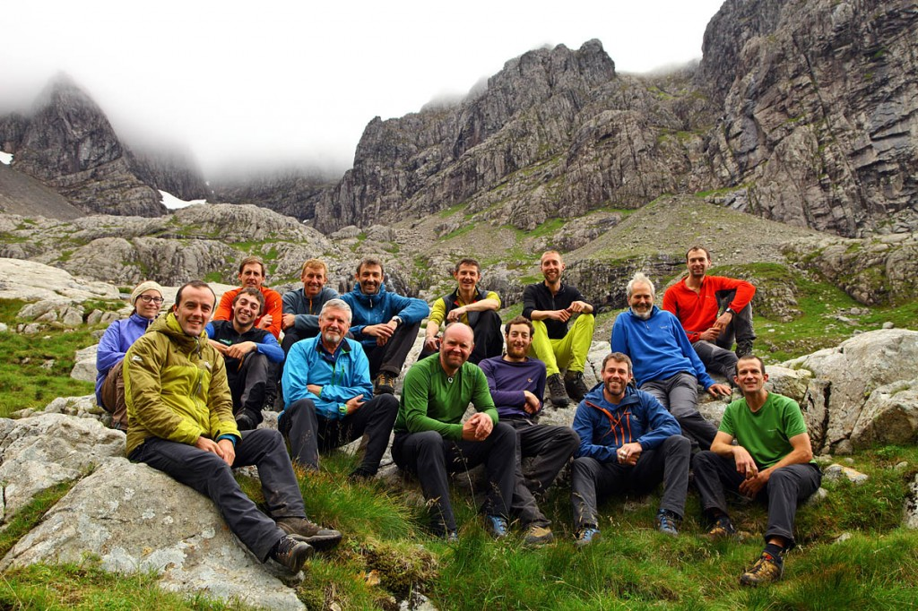 The team that took part in last year's North Face survey. Photo: Dave MacLeod