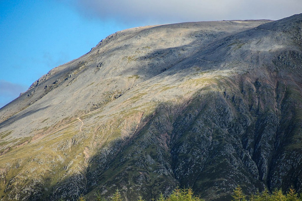 The walker tripped on the zigzag path leading from its summit. Photo: Bob Smith/grough