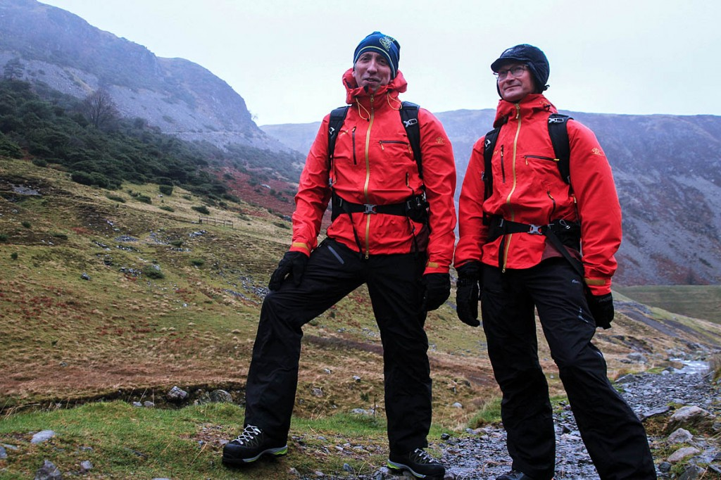Felltop assessors Graham Uney, left, and Jon Bennett begin their winter service today