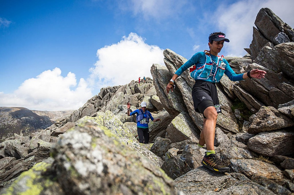 Sabrina Verjee in action on Tryfan. Photo: No Limits Photography