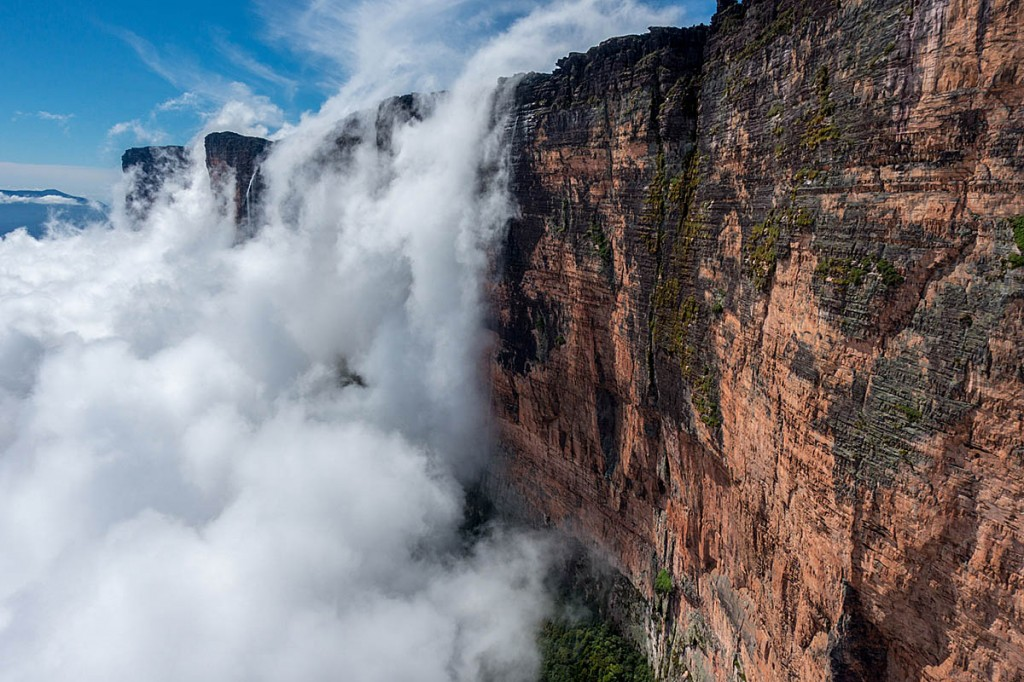 Roraima is often sheathed in cloud. Photo: Waldo Etherington