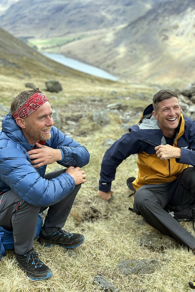 §Leo Houlding, left, and Ed Jackson during one of their Lake District training days