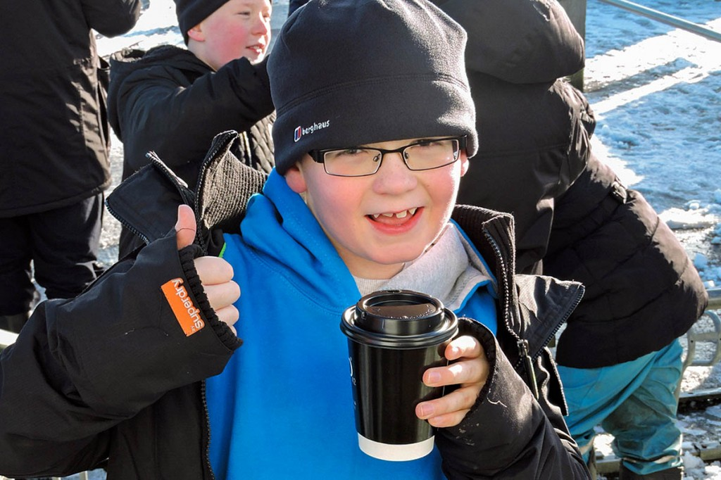 Year five pupil Aaron Lang enjoys the event