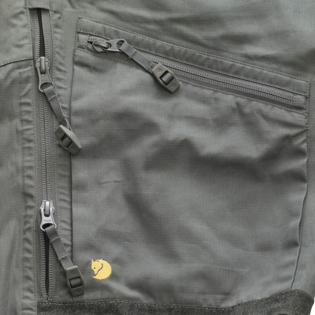 Some of the detail on the Bergtagen G1000 Lite Trousers