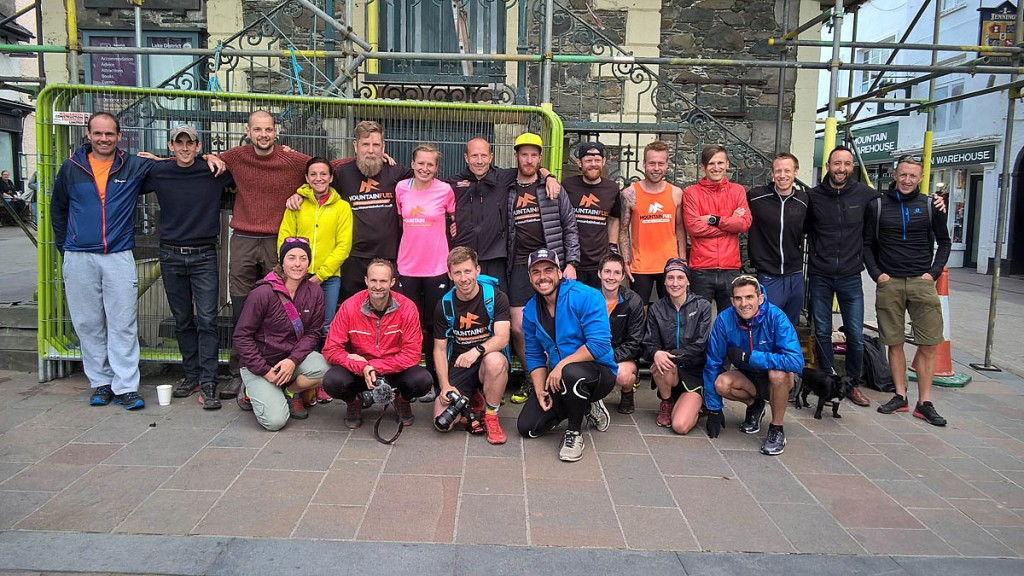 Runners at the Moot Hall in Keswick