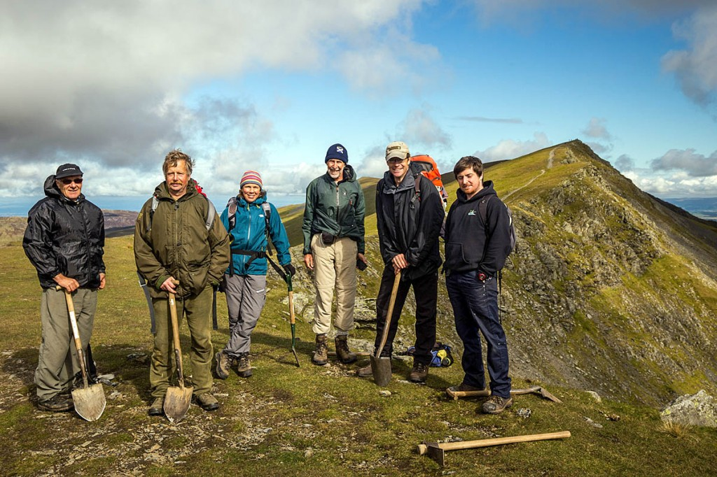 Some of the workforce on Blencathra during the fell care day. Photo: Ade Gibney