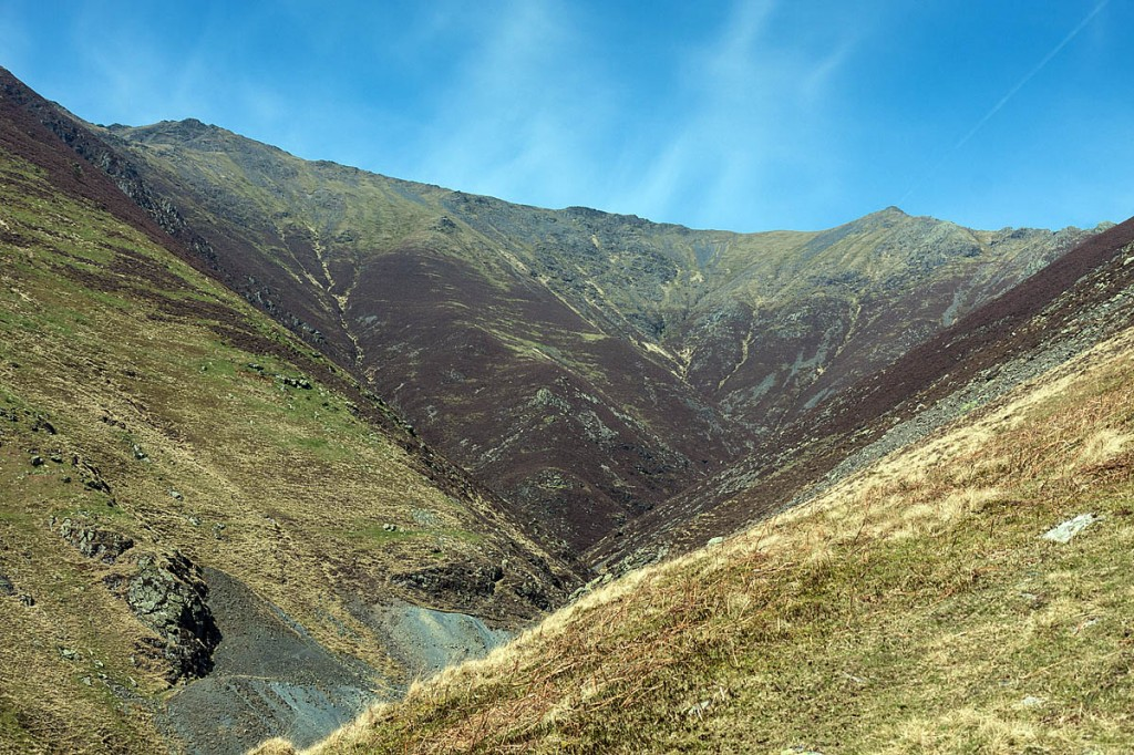 The family was attempting to climb Blencathra via Gategill Fell, left. Photo: Bob Smith/grough