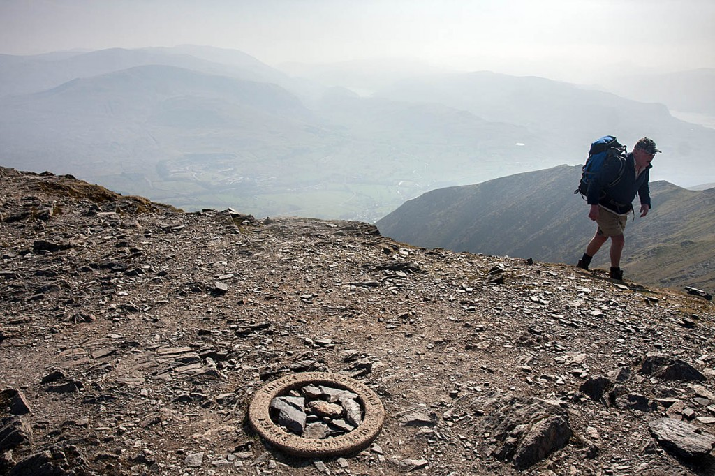 The triangulation circle was at the summit of Blencathra. Photo: Bob Smith/grough