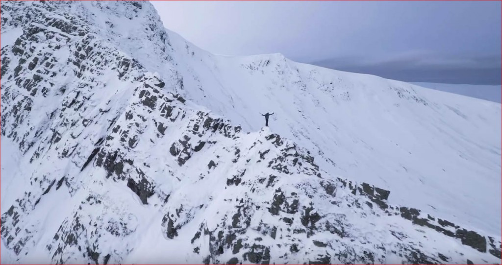 Alan Hinkes enjoys a winter traverse of Sharp Edge