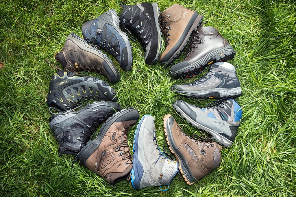 The 12 boots put to the test. Photo: Bob Smith/grough