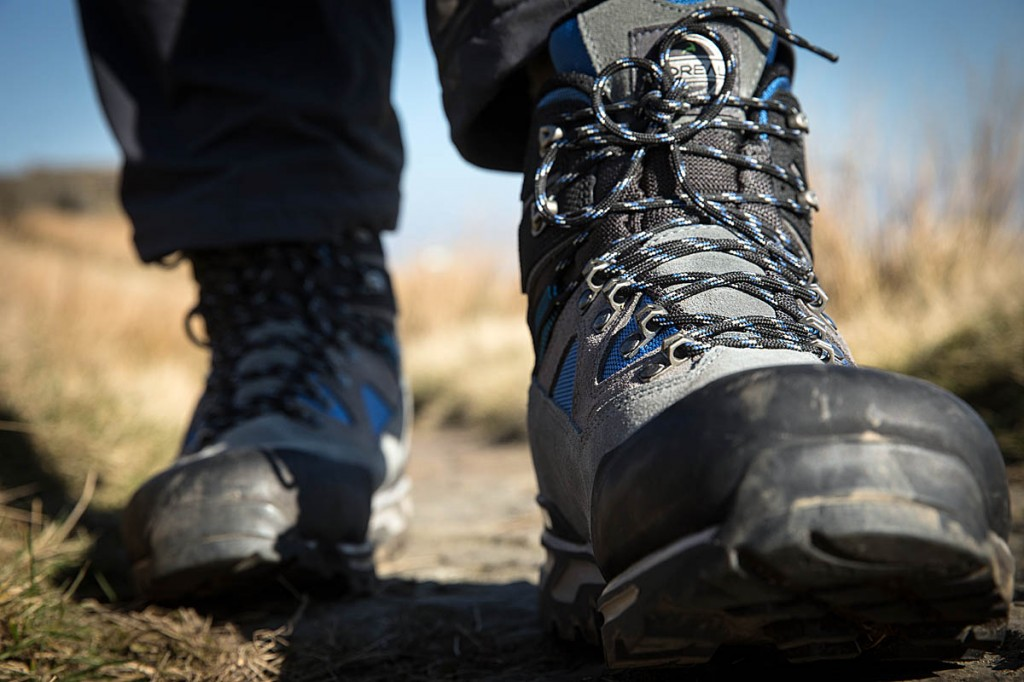 The Boreal boots on the trail. Photo: Bob Smith/grough