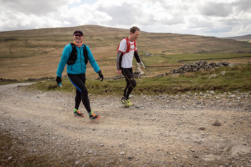 Brian Melia, left, with support runner Roy Ruddle, whom he described as an excellente navigator. Photo: Bob Smith/grough