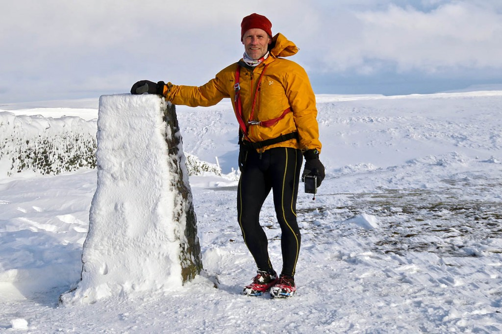 Brian Stallwood, who is running to the summit of Pen-y-ghent on 60 successive days