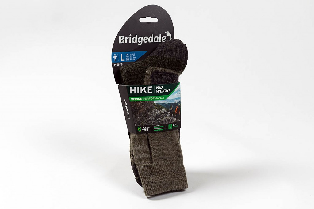 Bridgedale Hike Midweight Boot socks. Photo: Bob Smith/grough