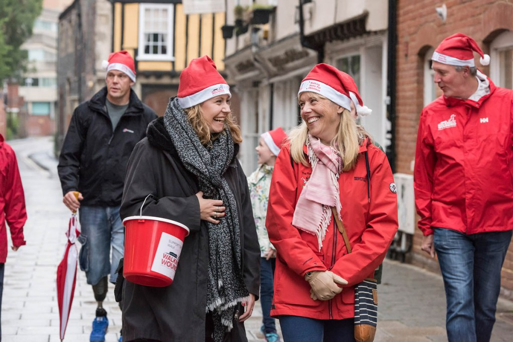 Bridgedale is encouraging people to help the charity by Walking Home for Christmas