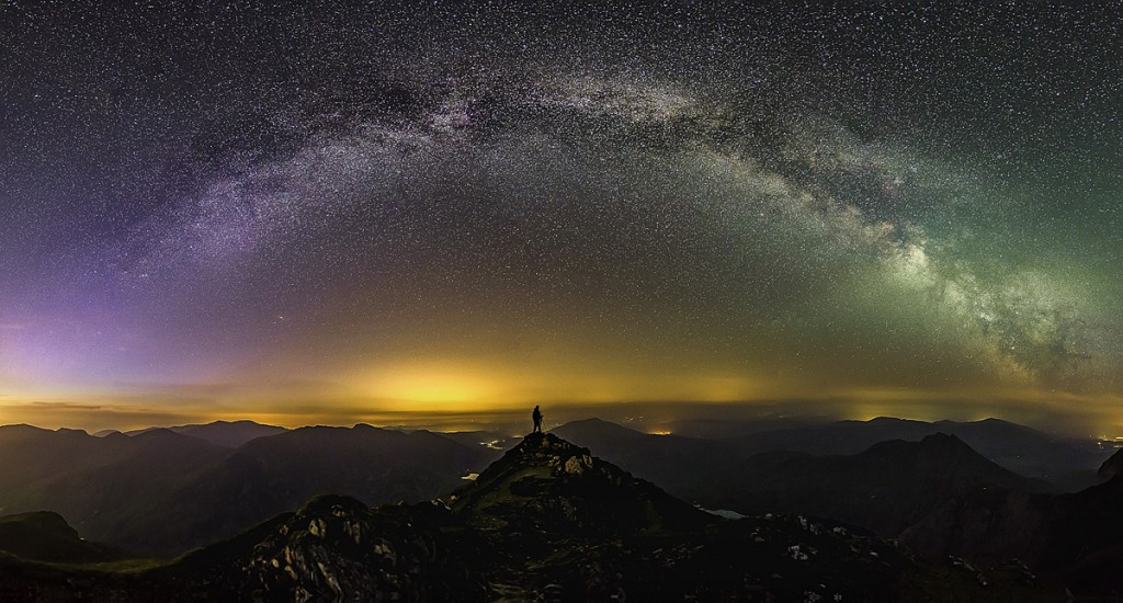 The Milky Way over the Snowdon massif. Photo: Gareth Mon