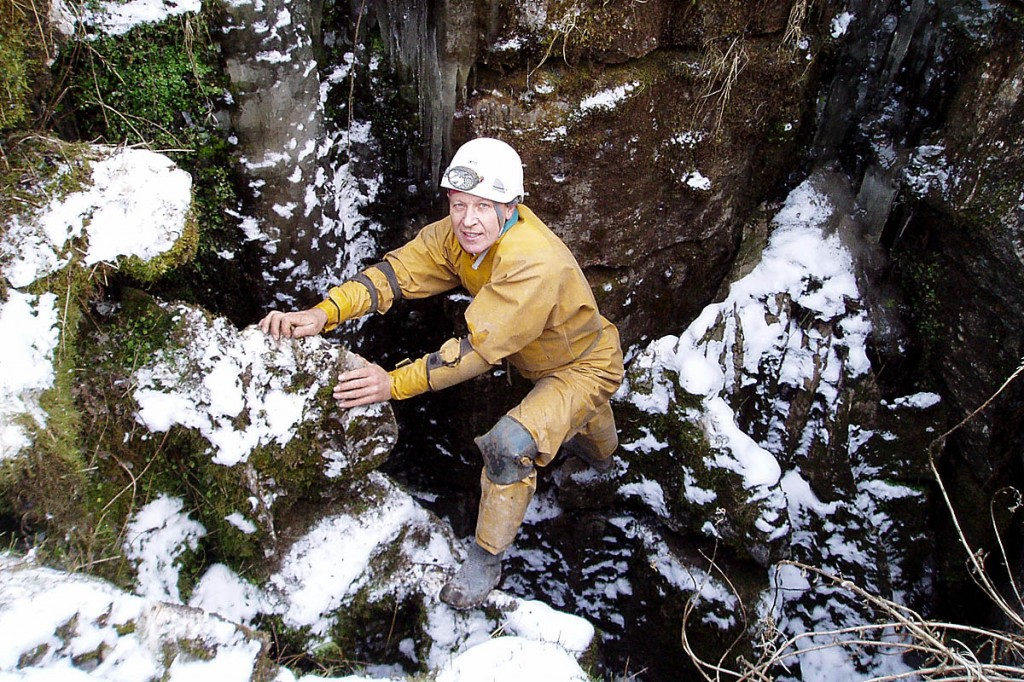 Harry Hesketh in caving action in 2006