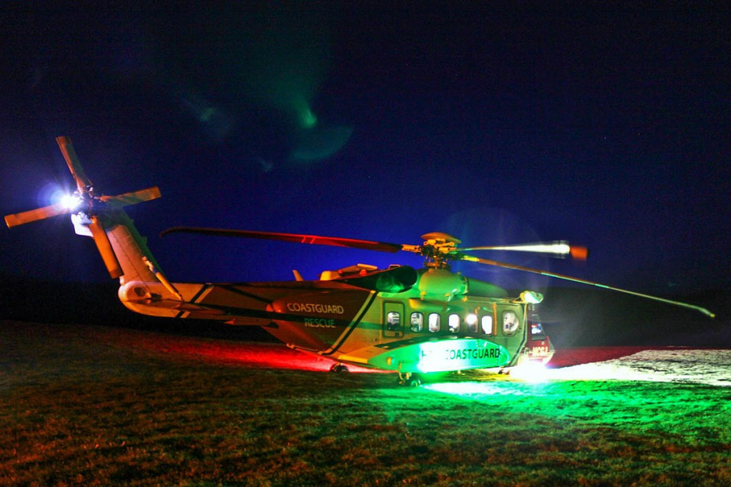 The Coastguard Sikorsky S-92 which got into difficulties during the rescue. Photo: CRO