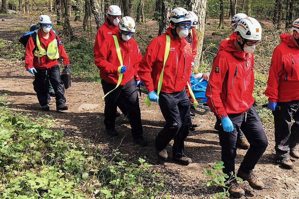 Team members used protective equipment during the callouts. Photo: CVSRT