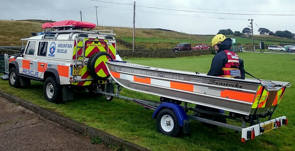 The team has also invested in a new aluminium boat. Photo: Calder Valley SRT