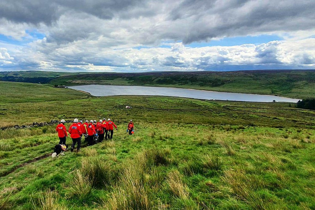 The team's area includes large swathes of moorland. Photo: CVSRT