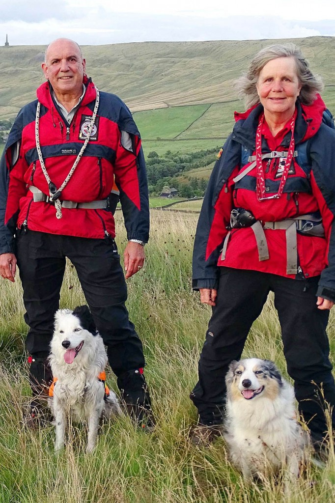 David Warden and Ellie Sherwin with their dogs. Photo: CVSRT