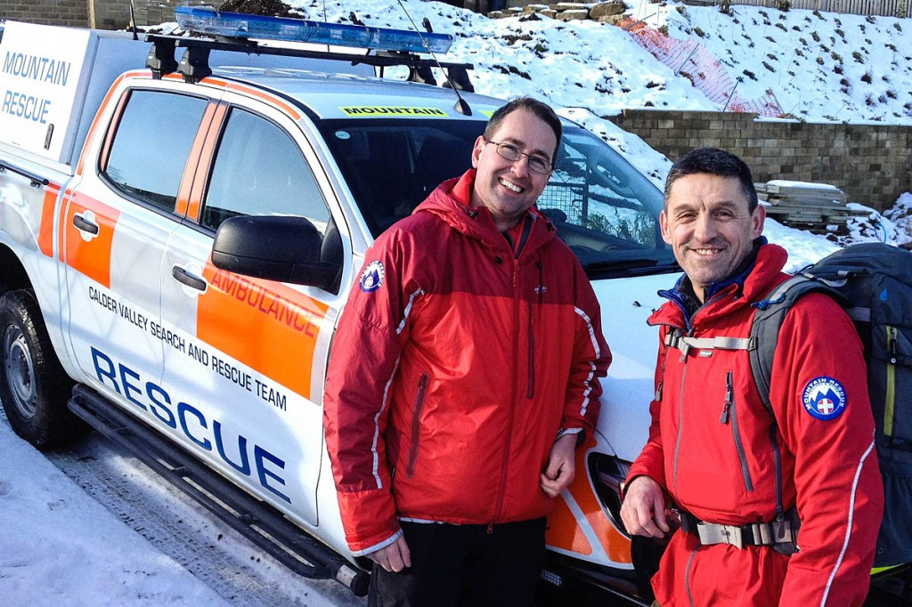 Team leader Ben Carter, left, with his predecessor Les Wilson. Photo: CVSRT