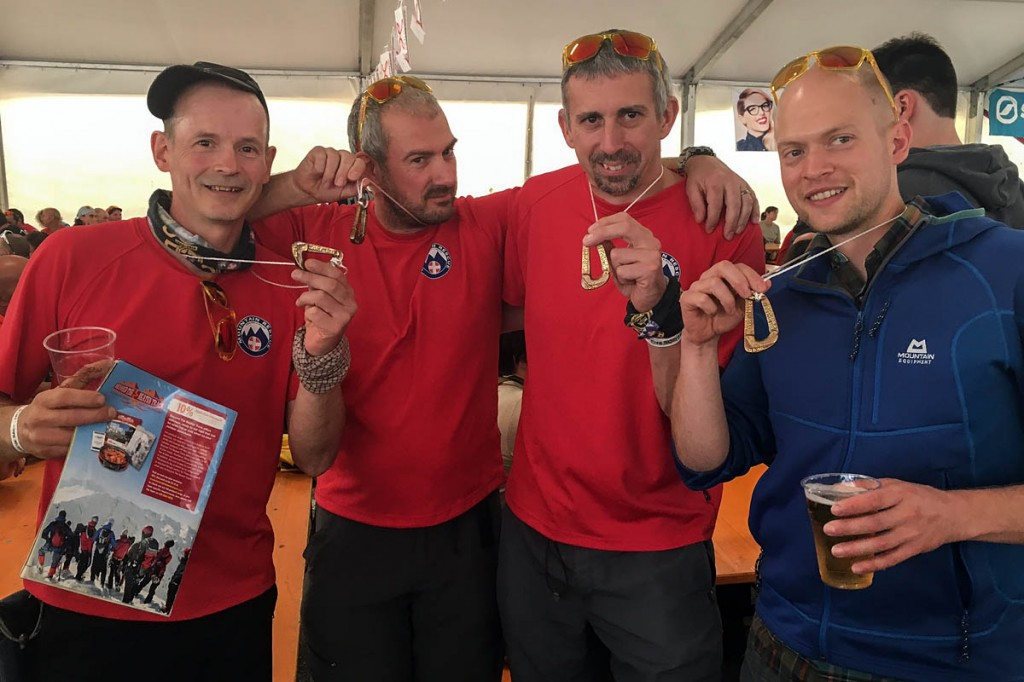 The Calder Valley SRT Dolomites Rescue Race team: from left, Paul Taylor, Al Day, Alistair Morris and Dan Kelly