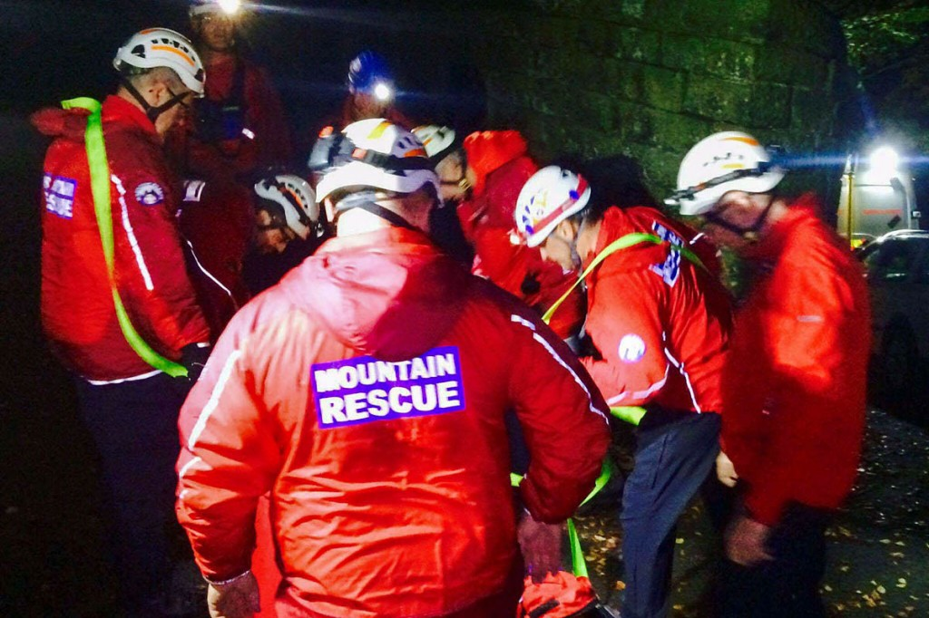 The scene of the incident at Lumb Bank. Photo: Calder Valley SRT