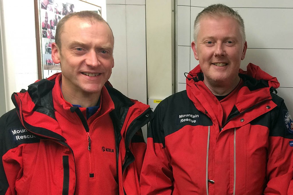Calder Valley SRT members Howard Barton and Jonothan Wright will take part in the event to raise funds for a new team vehicle. Photo: Calder Valley SRT