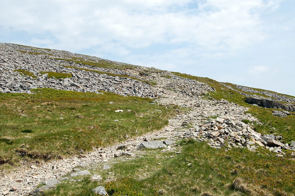 The practice is damaging paths and the upland environment. Photo: Natural Resources Wales
