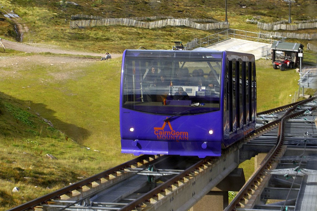 The Cairn Gorm funicular. Photo: Fraser Anderson