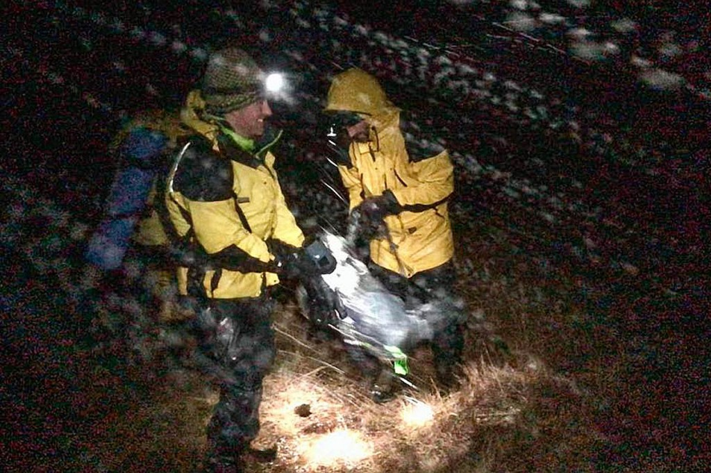 Rescuers faced 60mph winds and driven sleet during the incident. Photo: Cairngorm MRT