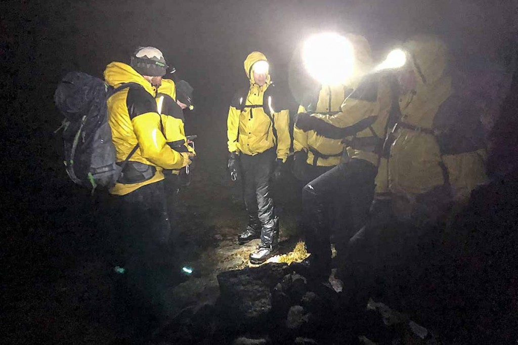 Mountain rescue team members often face long walks back after a mission. Photo: Cairngorm MRT