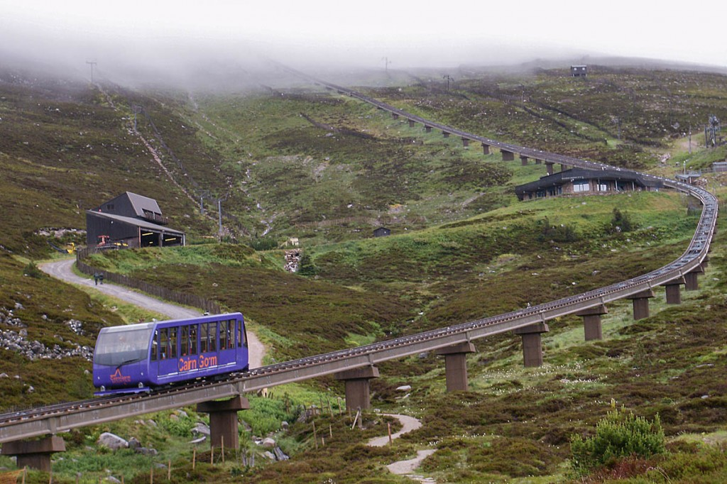 The funicular railway on Cairn Gorm has been closed for two years. Photo: Peter S CC-BY-SA-2.0