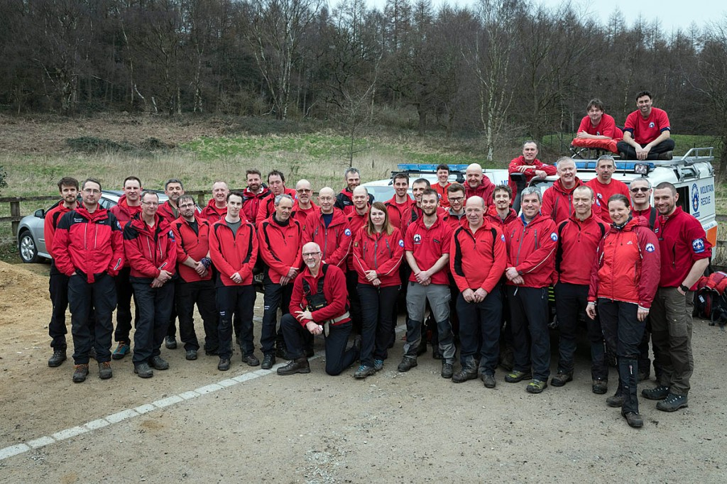 Calder Valley Search and Rescue Team. Photo: Bob Smith/grough