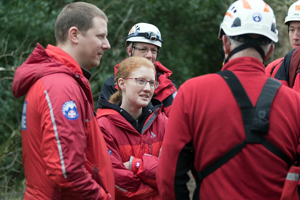 Halifax MP Holly Lynch joined the team to observe their training exercise. Photo: Bob Smith/grough