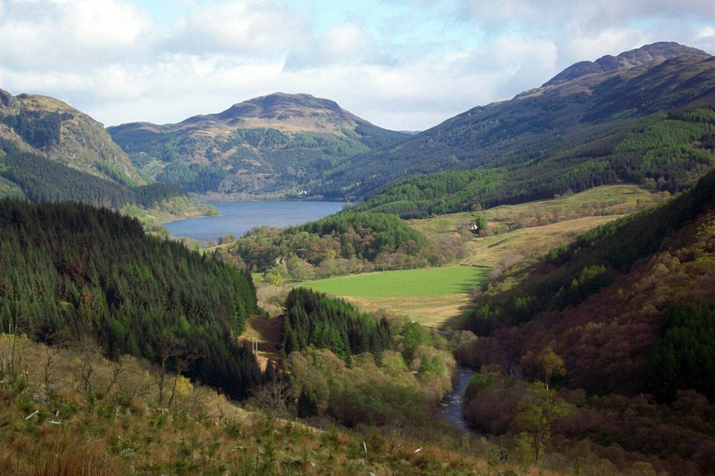 Callander's Pass in Loch Lomond and the Trossachs national park