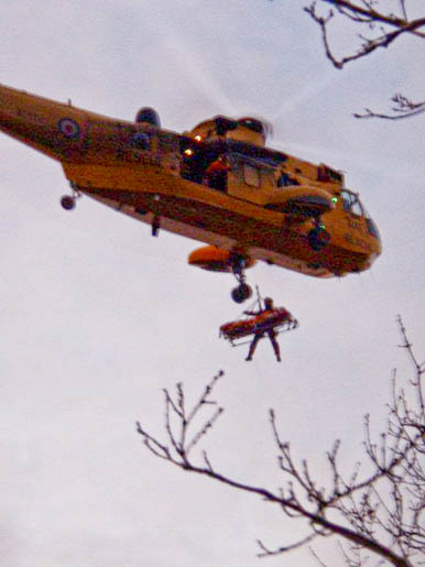The rescue by the crew from RAF Boulmer