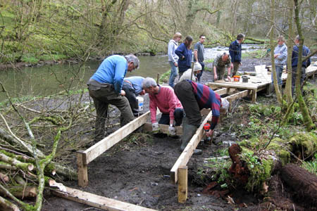 Work on a boardwalk as part of an ACT project
