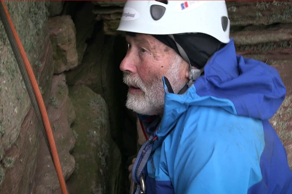 Return to Hoy. Sir Chris climbs the Orcadian sea stack in the film