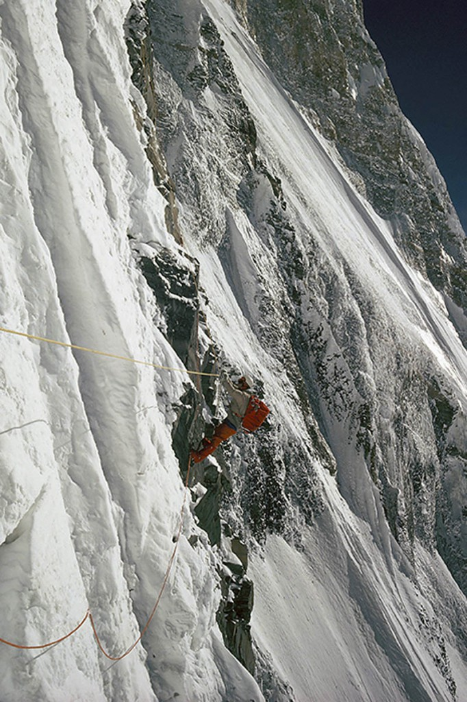 Bonington's shot of Ian Clough on Annapurna in 1970