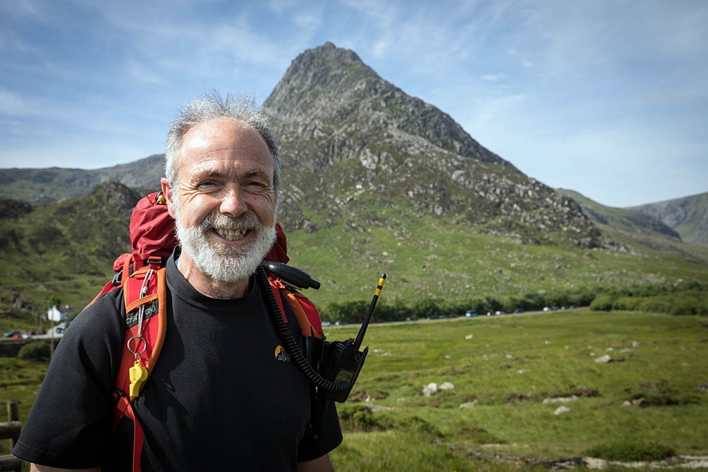 Chris Lloyd, with Tryfan in the distance. Photo: Bob Smith/grough