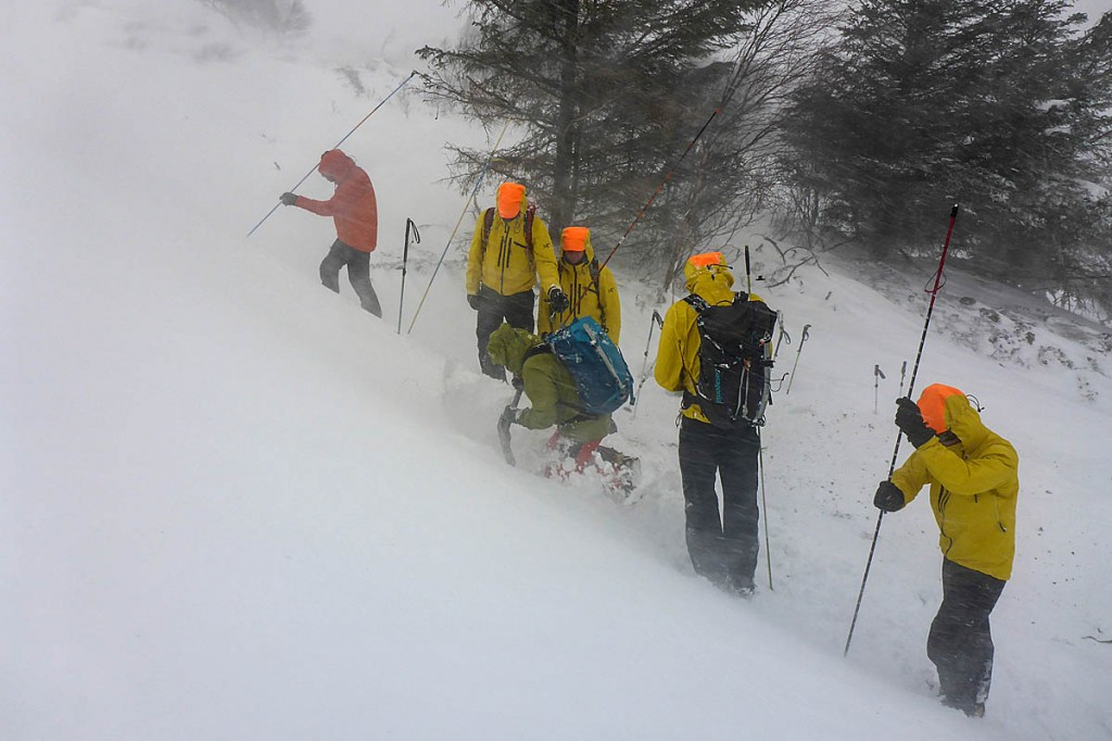 One of the avalanche training courses in action