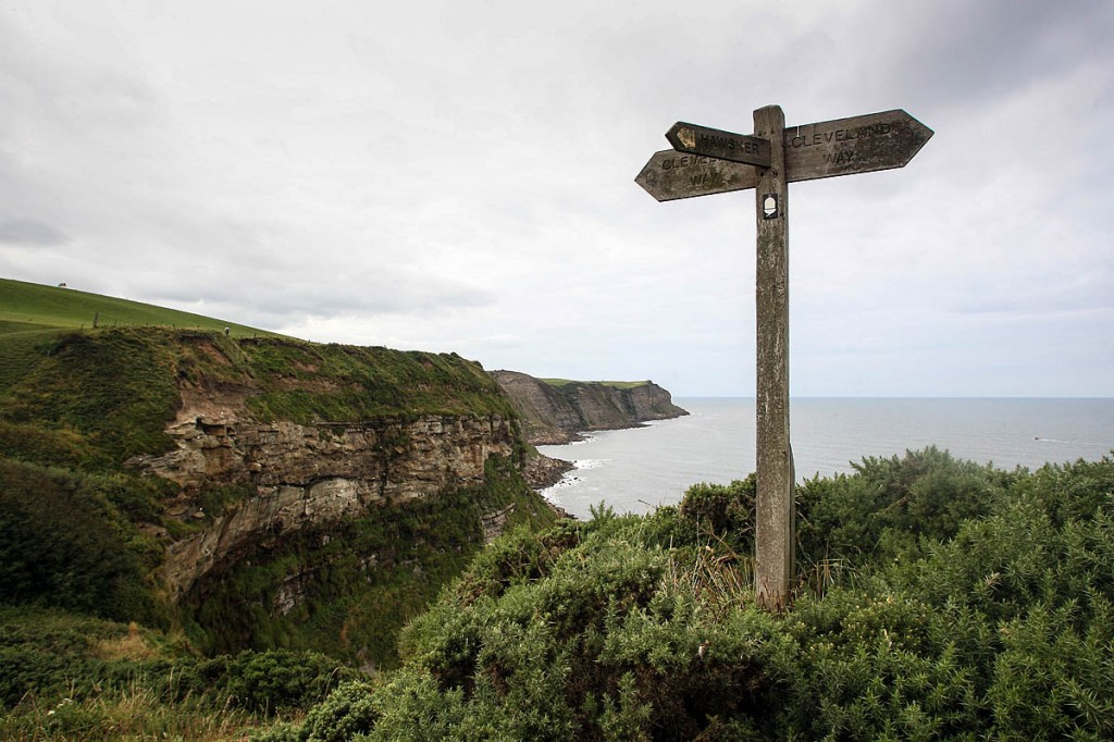 Maw Wyke Hole on the North Yorkshire coast, where the Coast to Coast Walk meets the Cleveland Way. Photo: Bob Smith/grough